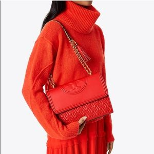"""NWT Tory Burch Fleming bag in """"exotic red"""""""